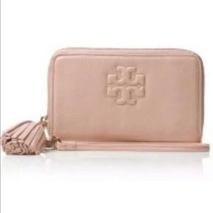 Tory Burch Wallet Thea Tassel Leather